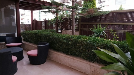 Amman, Apartments/Houses, JOD 22000 / year - 3 BR - Ground floor w/ private Swimming pool & Garden-Furnished/ Deir Ghabar