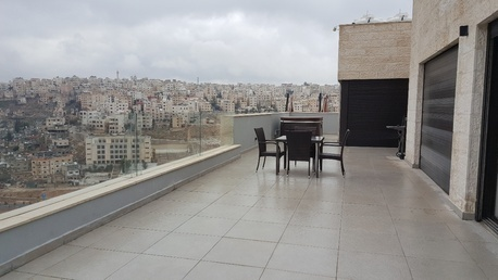 Amman, Apartments/Houses, JOD 34000 / year - 4 BR - Stunning Modern ROOF TOP w/ TWO TERRACES & STUNNING VIEW near Taj Mall Abdoun