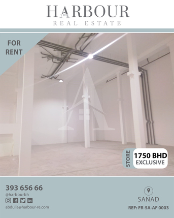 Sanad, Warehouses, BHD 1750 - Warehouse for rent in Sanad The area is 500 meters Price 1750 dinars per month