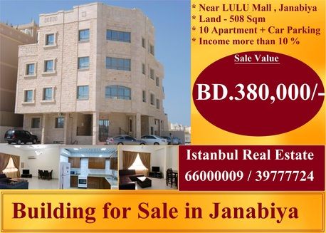 Janabiya, Real Estate For Sale, BHD 380000 - Residential Building For Sale In Janabiya ( 10 % Income )