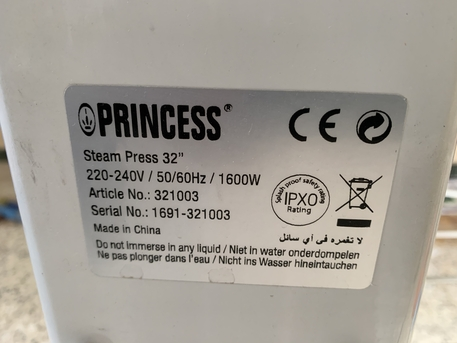 "Dammam, Clothing & Accessories, SAR 400 / PRINCESS STEAM PRESS 32"" With Stand"